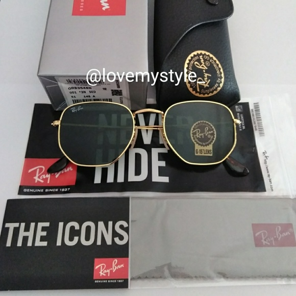 a3f9f0d7f6 ❤️SALE⬇  120🆕% AUTHENTIC RAY BAN ROUND HEXAGONAL